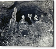 Coal Miners With A Canary Acrylic Print by Miriam And Ira D. Wallach Division Of Art, Prints And Photographs/new York Public Library