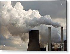 Coal Power Station Blasting Away Acrylic Print