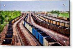 Coal Snakes Acrylic Print