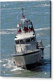 Coast Guard At Depot Bay Acrylic Print by Chris Anderson