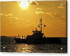Coast Guard In Paradise - Key West Acrylic Print