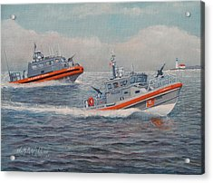 Coast Guard Lri And Rb-m Acrylic Print by William H RaVell III