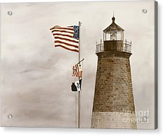 Coast Guard Acrylic Print by Monte Toon