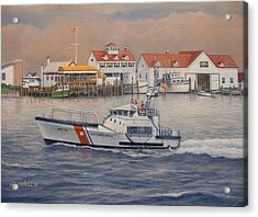 Coast Guard Station Acrylic Print by William H RaVell III