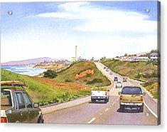 Coast Hwy 101 Carlsbad California Acrylic Print by Mary Helmreich