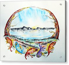 Coast Acrylic Print by Natasa Dobrosavljev