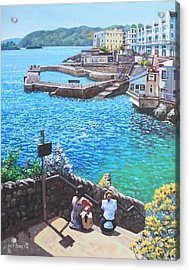 Coast Of Plymouth City Uk Acrylic Print