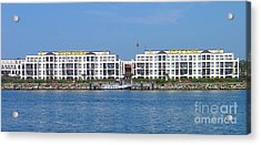 Acrylic Print featuring the photograph Coast Warnemuende Germany by Art Photography