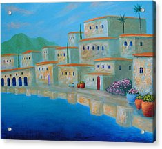 Acrylic Print featuring the painting Coastal Colors by Larry Cirigliano