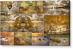 Coastal Connections Acrylic Print by Betsy Knapp