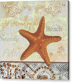 Coastal Decorative Starfish Painting Decorative Art By Megan Duncanson Acrylic Print