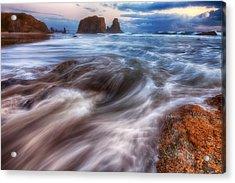 Coastal Flow Acrylic Print by Darren  White
