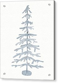 Coastal Holiday Tree Iv Red Acrylic Print by Kathleen Parr Mckenna