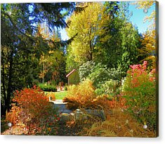 Acrylic Print featuring the photograph Coastal Maine Garden by Gene Cyr