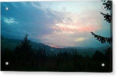 Coastal Mountain Sunrise V Acrylic Print