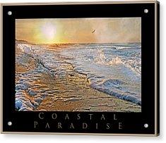 Coastal Paradise Acrylic Print by Betsy Knapp