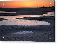 Coastal Ponds At Sunrise Acrylic Print by Steven Ainsworth