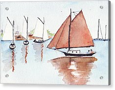 Coastal Reflections Acrylic Print by Robert Parsons