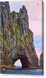 Coastal Rock Open Arch Acrylic Print