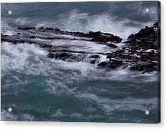 Coastal Rocks Off Rancho Palo Verdes Photography By Denise Dube Acrylic Print