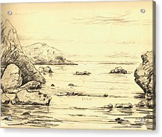 Coastal Scene Cuerno Acrylic Print by Juan  Bosco