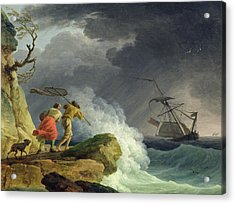 Coastal Scene In A Storm Acrylic Print by Claude Joseph Vernet