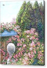 Coastal Sea Roses Acrylic Print by Annie St Martin