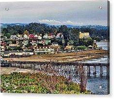 California Coastal Town Acrylic Print