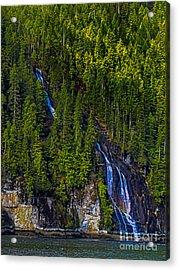 Coastal Waterfall Acrylic Print by Robert Bales