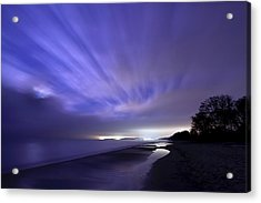 Coastline At Night Acrylic Print by EXparte SE