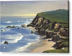 Coastline Half Moon Bay Acrylic Print by Terry Guyer