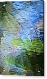 Coastline Mosaic Abstract Art Acrylic Print by Christina Rollo
