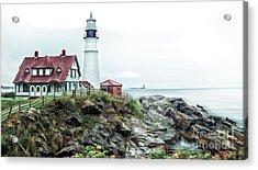 Coastline Sentinel Acrylic Print by Arnie Goldstein
