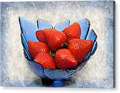 Cobalt Blue Berry Boat Acrylic Print by Andee Design