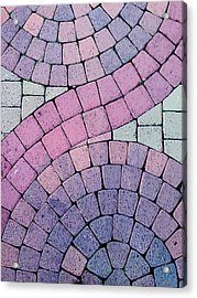Cobblestone Abstract Acrylic Print by Art Block Collections
