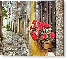 Cobblestone Streets Of Bale Acrylic Print by Maciek Froncisz