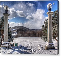 Cobbs Hill Park In Winter Acrylic Print by Tim Buisman