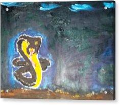 Cobra Oil Painting Acrylic Print by William Sahir House
