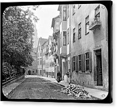 Coburg Germany Street Scene 1903 Acrylic Print