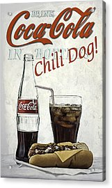 Coca-cola And Chili Dog Acrylic Print