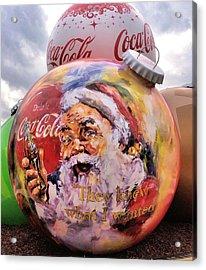 Coca Cola Christmas Bulbs Acrylic Print by Dan Sproul