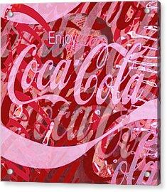 Coca-cola Collage Acrylic Print by Tony Rubino