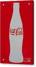 Coca Cola Graphic Bottle Photo. Acrylic Print