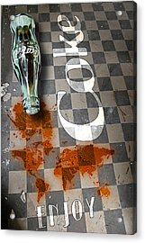Coca Cola Loved All Over The World 3 Acrylic Print