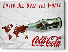Coca Cola Loved All Over The World Acrylic Print