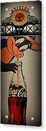 Coca Cola Orioles Sign Acrylic Print
