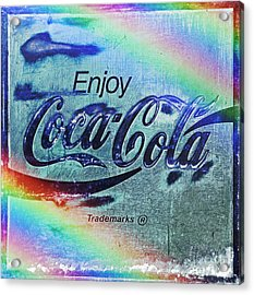Coca Cola Rainbow Acrylic Print