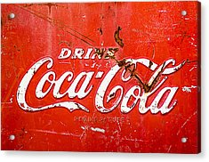 Acrylic Print featuring the photograph Coca-cola Sign by Jill Reger