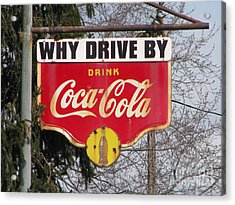 Coca-cola Sign Acrylic Print by Michael Krek