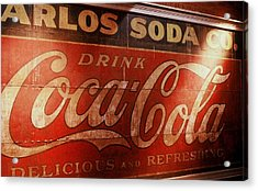 Acrylic Print featuring the photograph Coca Cola Sign by Rodney Lee Williams